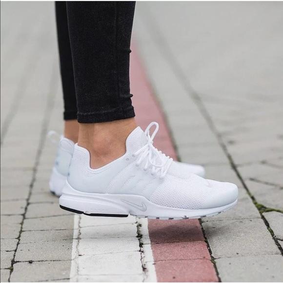 san francisco 6cdac 212f2 Nike Shoes   Womens Air Presto White Sneakers   Poshmark